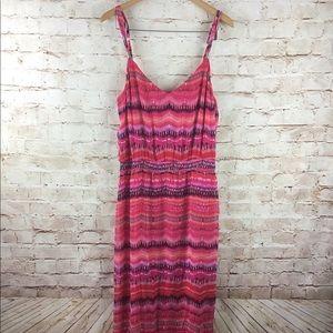 White House Black Market Pink Maxi Dress L